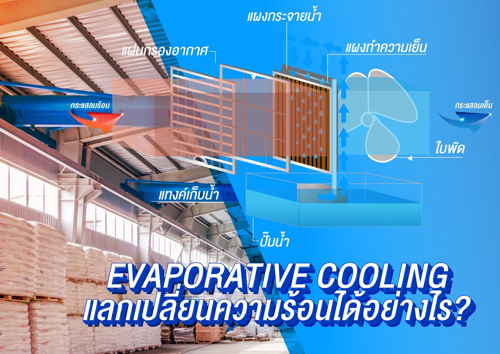 EVAPORATIVE COOLING แลกเปลี่ยนความร้อนได้อย่างไร?